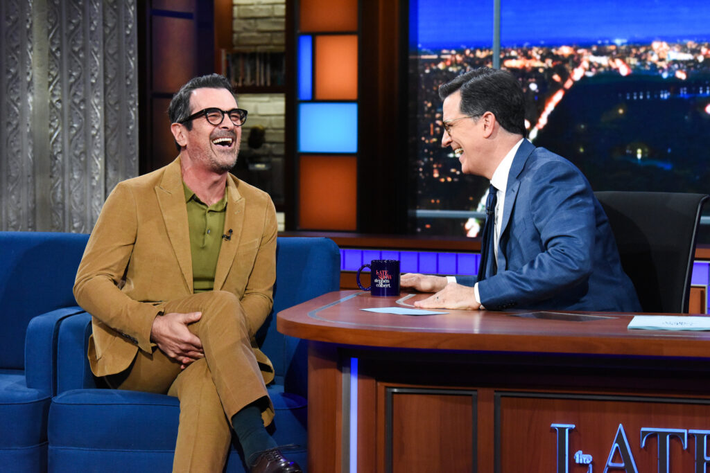 NEW YORK - MARCH 2: The Late Show with Stephen Colbert and guest  Ty Burrell during Monday's March 2, 2020 show. (Photo by Scott Kowalchyk/CBS via Getty Images)